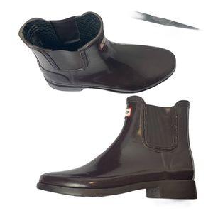 NWOT Hunter Short Rain Boots Women's 8 Brown